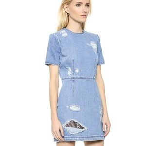 House of Holland denim and lace dress